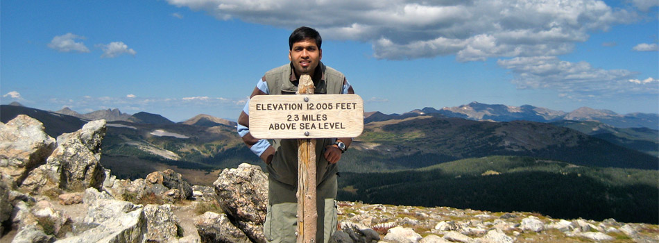 Naresh Jain on Rocky Mountains